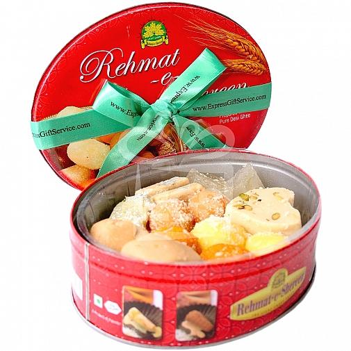 2KG Mix Mithai Tin Box - Rehmat-e-Shereen Sweets