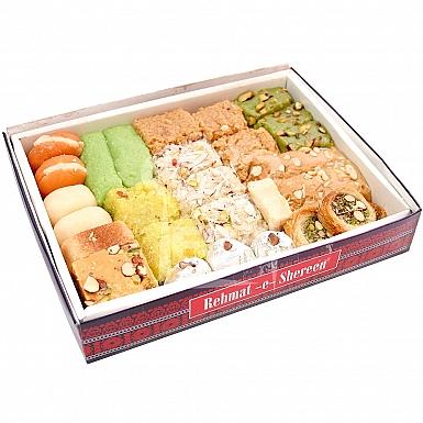 2KG Mix Mithai Box - Rehmat-e-Shereen Sweets