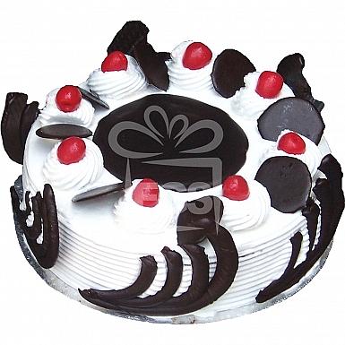 2Lbs Designer Blackforest Cake with Garnish - Serena Hotel