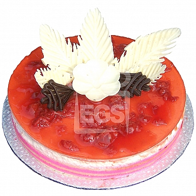 2Lbs Designer Red Berry Cheese Cake - Serena Hotel