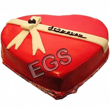 2Lbs Blackforest Love Heart Cake - PC Hotel