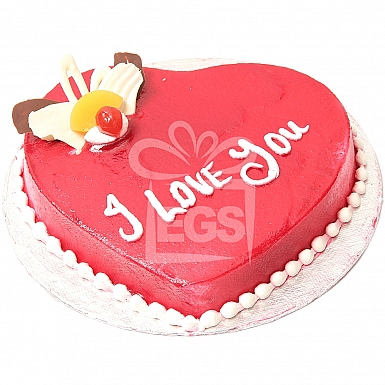 2Lbs Heart Shape Cake with Red Topping - PC Hotel