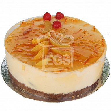 2Lbs Peach Orange Mousse Cake - Kitchen Cuisine
