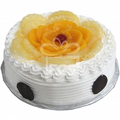 2Lbs Pineapple Peach Cake - Data Bakers