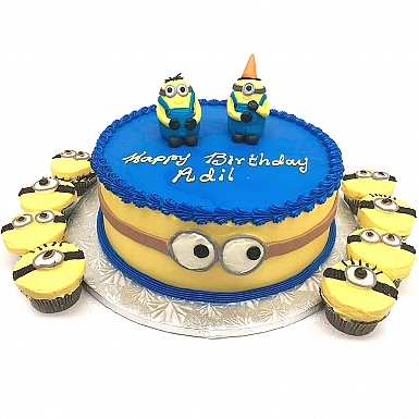 2lbs Minion Cake with Cup Cakes - Armeen