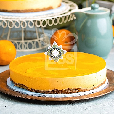 2Lbs Peach and Orange Cheese Cake - Pie in The Sky