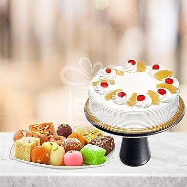 4KG Mix Mithai Tokra + 4Lb Cake