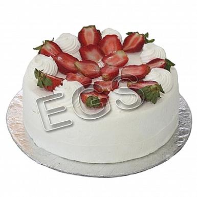 6Lbs Fresh Strawberry Cream Cake - Pearl Continental Hotel