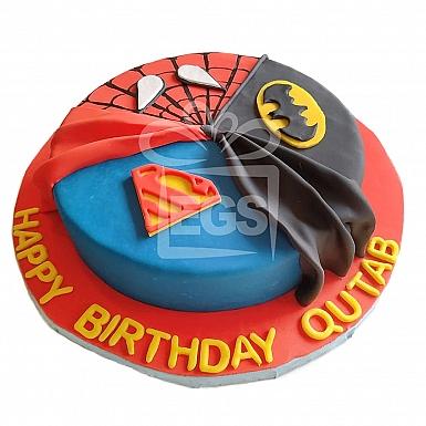 6lbs Super Hero designer cake from pie in the sky