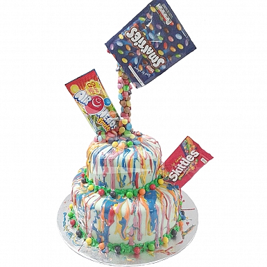 6lbs Two Tier Fruits Candy Cake - Armeen