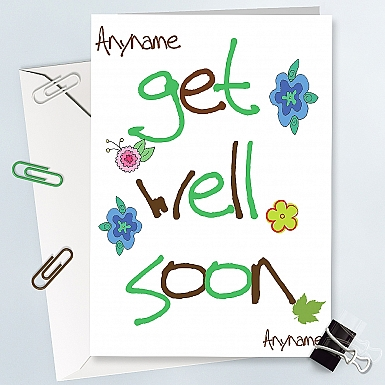 Get Well Soon - Personalised Cards