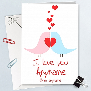 I Love Anyname - Personalised Cards