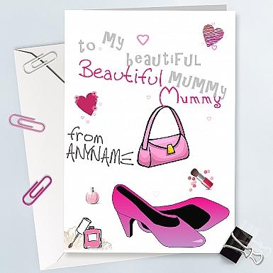 Beautiful Mumy - Personalised Card