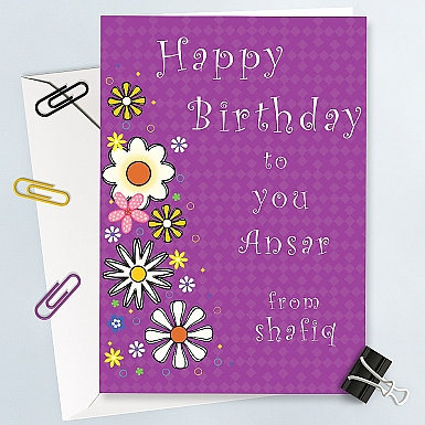 Happy Birthday to You - Personalised Card