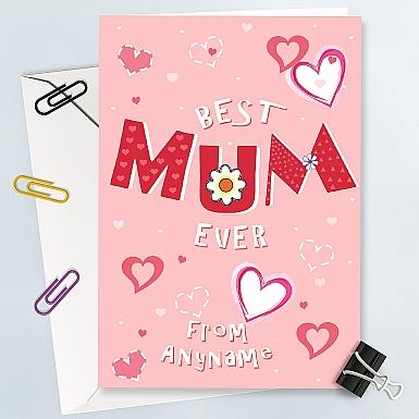 Best Mum Ever - Personalised Card