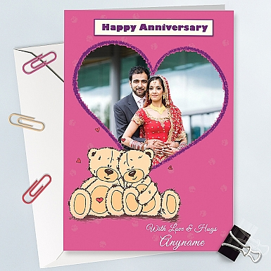 Happy Anniversay Photo Card - Personalised Card