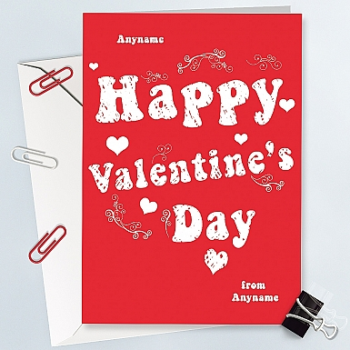 Valentines Day-Personalised Card
