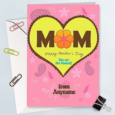 Coolest Mom Card - Personalised Card