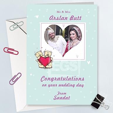 Wedding Congratulation Card - Personalised Card