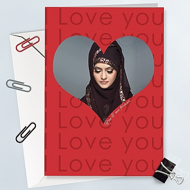 Valentines Day Photo Card - Personalised Card