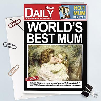 No 1 Mum Card - Personalised Card