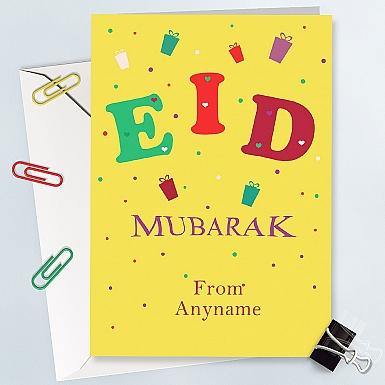Eid Greeting Personalised Card - Personalised Card