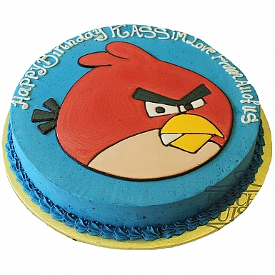 4Lbs Angry Blue Bird Cake - Kitchen Cuisine