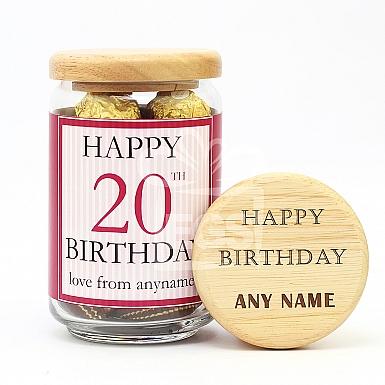 Happy Birthday-Engraved Lid Jar
