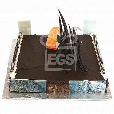2Lbs Chocolate Brownie Cake - Serena Hotel