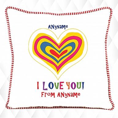 Colorful Heart-Love cushion