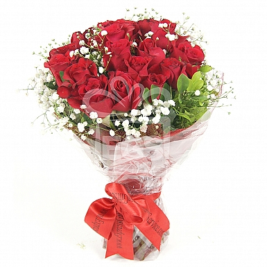 36 Imported Red Roses Bouquet