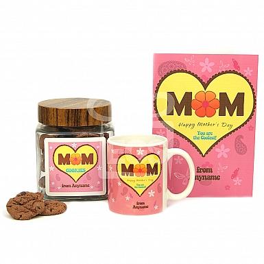 Coolest Mom Cookies Jar + Mug + Card