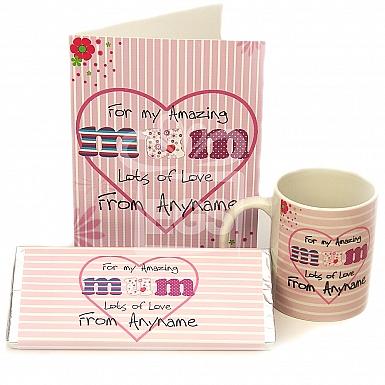Amazing Mum Card + Mug + Chocolate