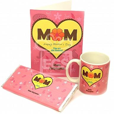 Happy Mothers Day Card + Chocolate + Mug