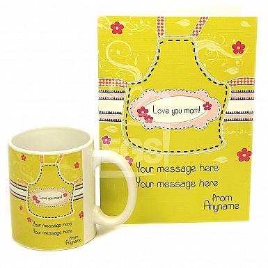 Love You Mom Card + Mug