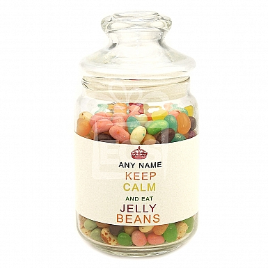 Personalised Jelly Beans Jar-Keep Calm