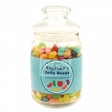 Personalised Jelly Beans Jar-Jelly Heart