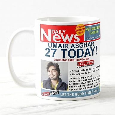 Daily News- Birthday Mug