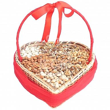 Dry Fruit Heart Shape Basket