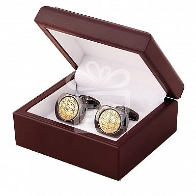 Black and Golden Two tone Cufflinks