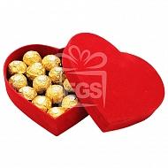 Ferrero Rocher in Heart Box - 16 pieces