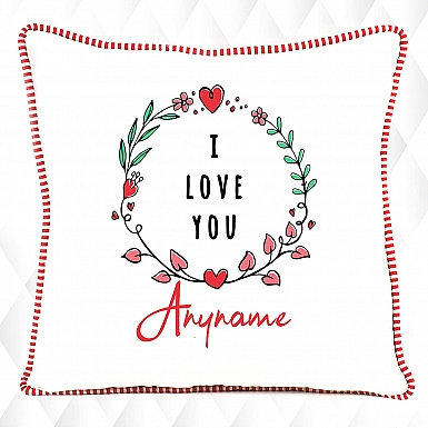 Floral Love Personalised Cushion