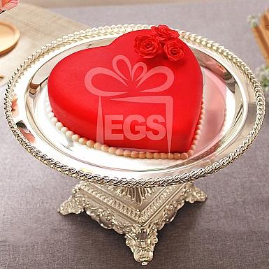 2Lbs Fondant Heart Shape Cake - PC Hotel