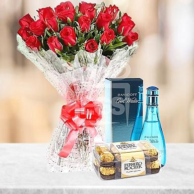 Fresh Flowers + Rochers+ Perfume
