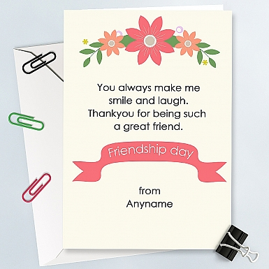 Friendship Day Personalised Card