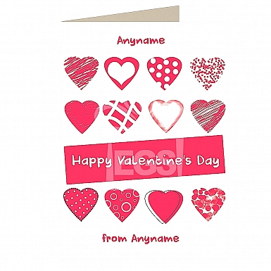 Happy Valentines Day-Personalised Card