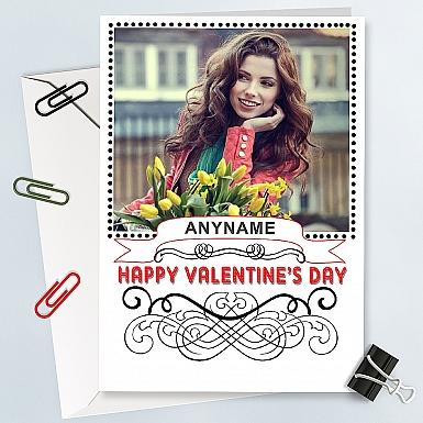 Happy Valentines-Personalised Photo Card