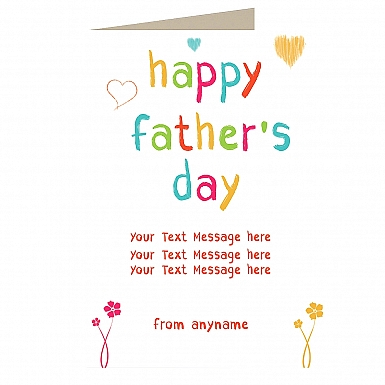 Happy Delightful Fathers Day - Personalised Card