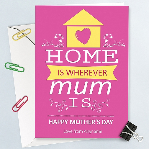 Home is where mum is-Personalised Card