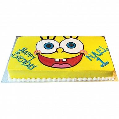 4Lbs Sponge Bob Face Cake - Kitchen Cuisine